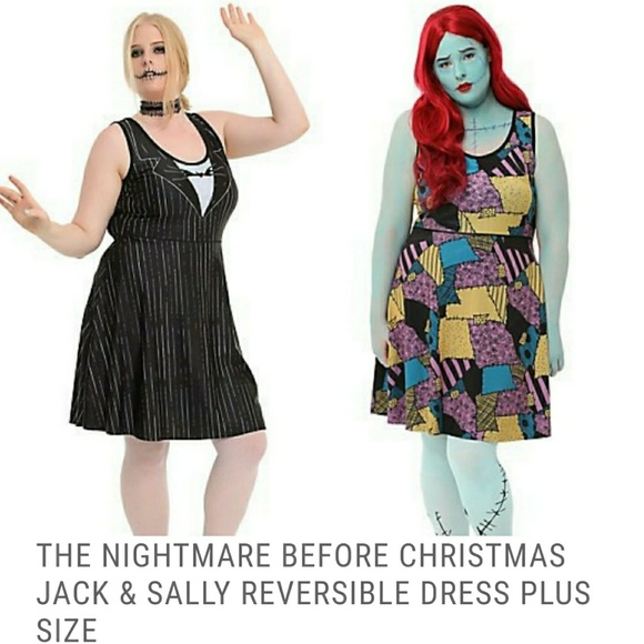 Hot Topic Nightmare Before Christmas Dress.Nightmare Before Christmas 1x Reversible Dress Nwt